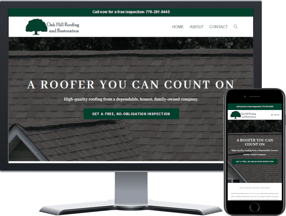 Oak Hill Roofing and Restoration Website